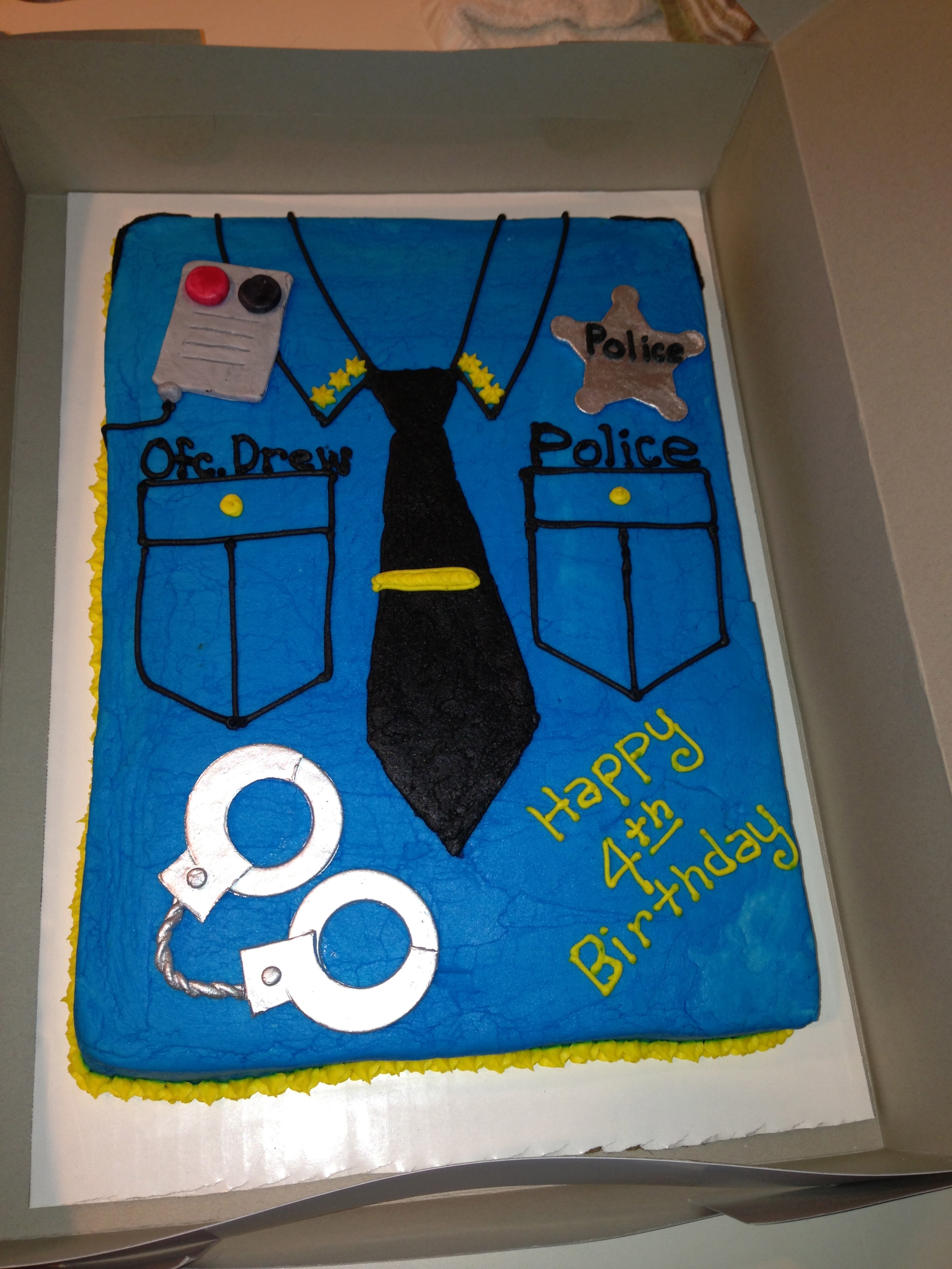 Cake Decorations For Police Cake : Birthday Cakes Sugar Rush